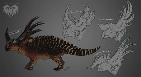 Styracosaurus Mutation + FREE Base Download by LeviaDraconia