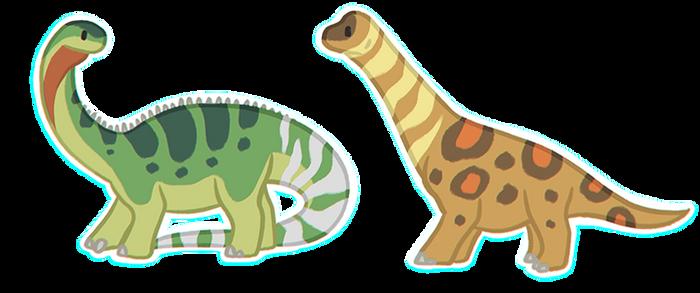 FREE Stylized Sauropod Bases