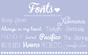 Fonts by Candush by Candush