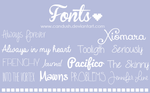 Fonts by Candush