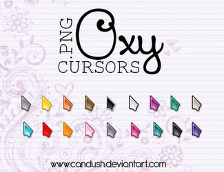 Oxy Cursors png - By, Candush by Candush