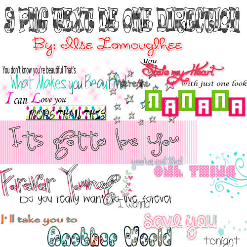 png text de one direction by ilsecano on deviantart