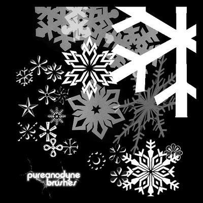 Snowflake Brush Set by anodyne-stock