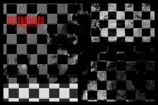 Grunge Checkers Brush Set