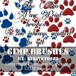 2 GIMP paw print brushes - Free download