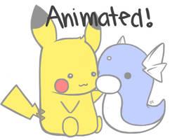 Pikachu and Dratini by dianabokchoytan