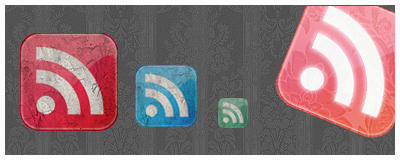 Grunge Rss Feed Icons by FrankaKo