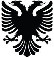 Albanian Eagle Vector by MondiG