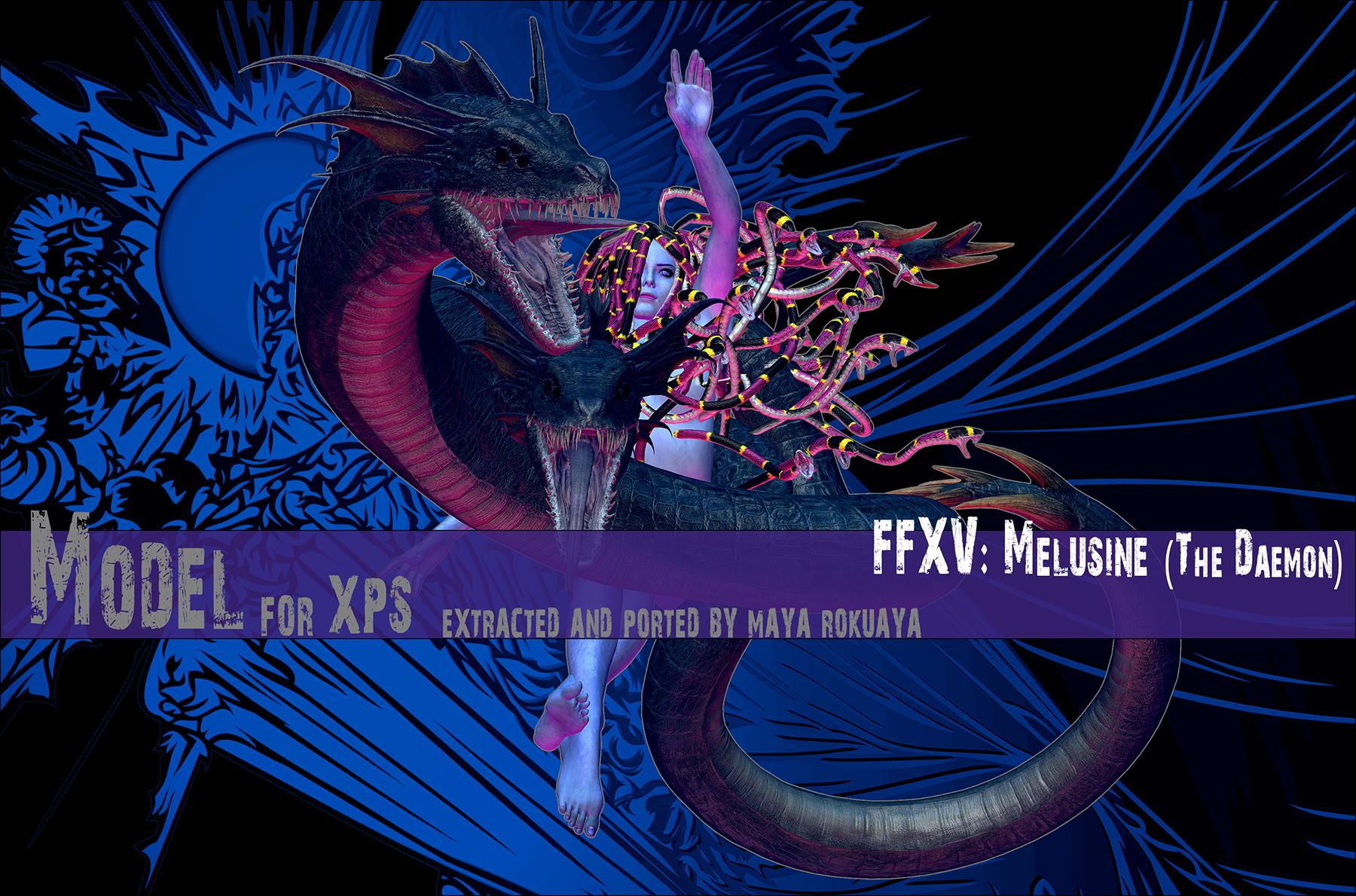XPS: FFXV - Melusine (The Daemon) by MayaRokuaya