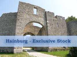 ExclStock Hainburg Ruin by Gwathiell