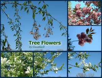 Tree Flowers Pack by Gwathiell
