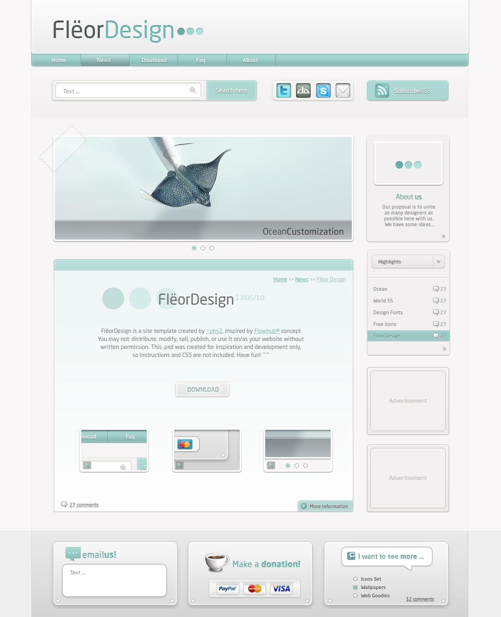 Fleor Design Template