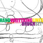handwrittring lines brush set