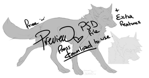 Canine lineart with optional features