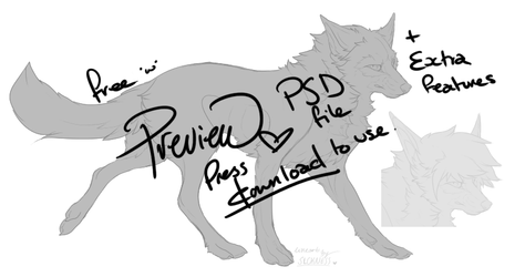 Canine lineart with optional features by FrayedEntity