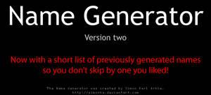 Random Name Generator v2
