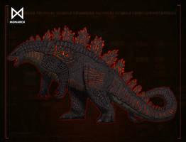 Burning Godzilla by kingrexy