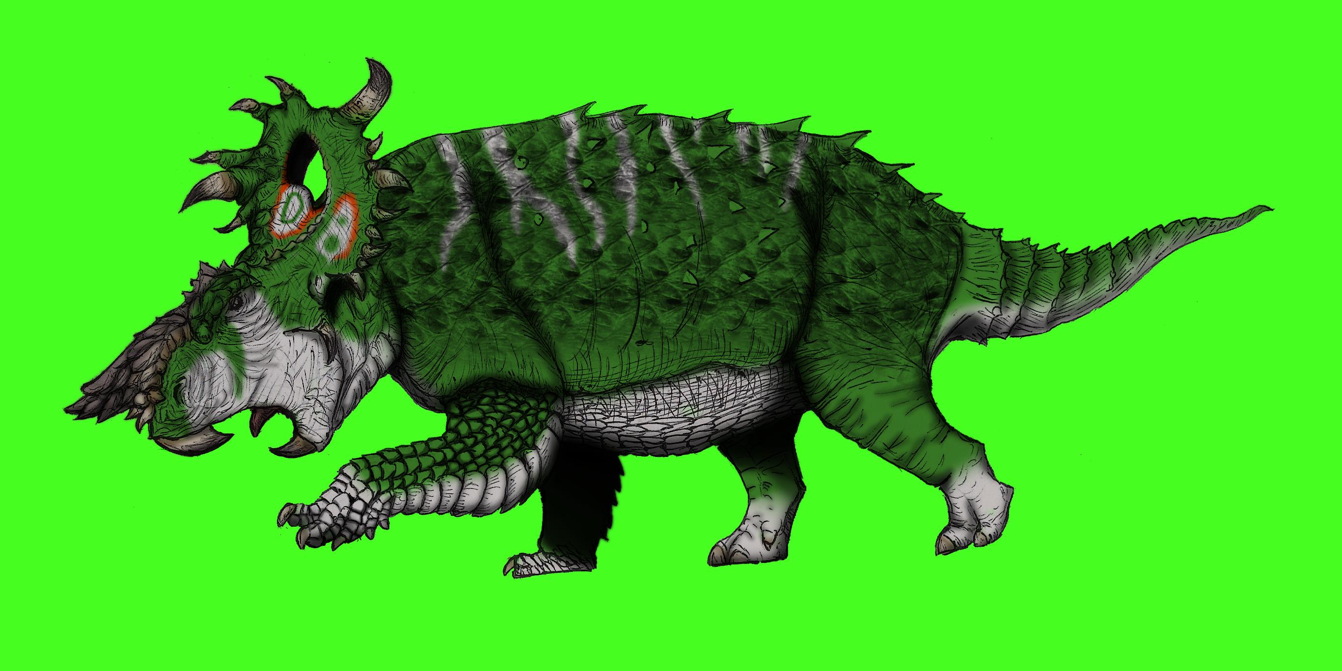 Dinovember day 2 - Pachyrhinosaurus redesign by kingrexy
