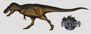 Dinovember day 8 - Daspletosaurus by kingrexy