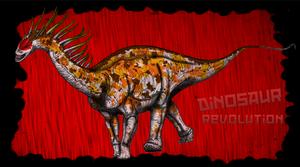 Dinovember day 10 - Amargasaurus by kingrexy