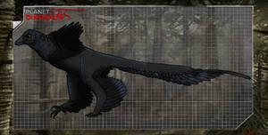 Dinovember day 22 - Microraptor by kingrexy