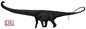Dinovember day 24 - Barosaurus by kingrexy