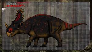 Dinovember day 27 - Centrosaurus by kingrexy