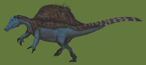 Spinosaurus but it's a megaraptoran (Spinovenator)
