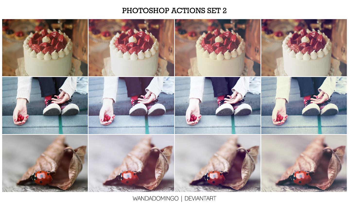 Photoshop Actions Set 2 by wandadomingo