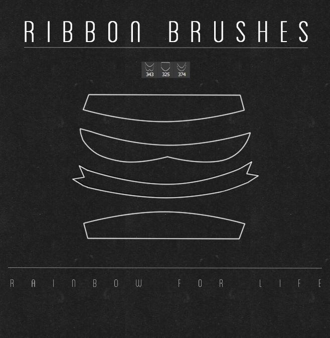 Ribbon brushes by raibowforlife