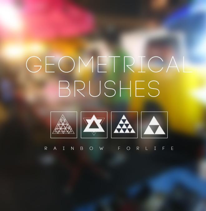 Geometrical Brushes by raibowforlife