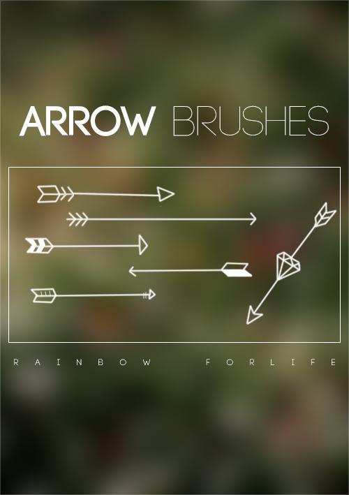Arrows Brushes by raibowforlife
