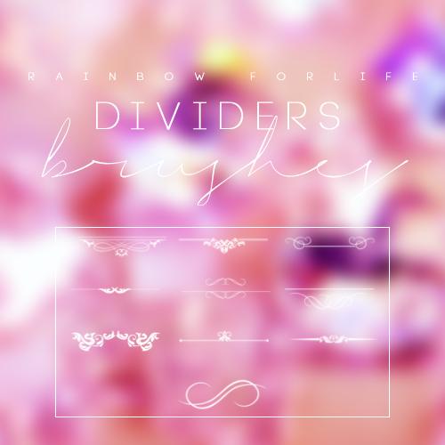 Dividers Brushes by raibowforlife
