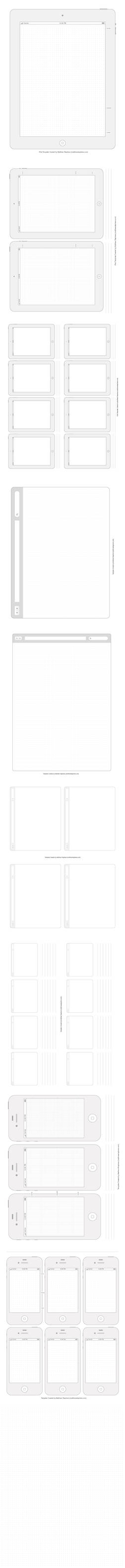 Printable UI Templates for iPhone 4s, iPad 2, etc.