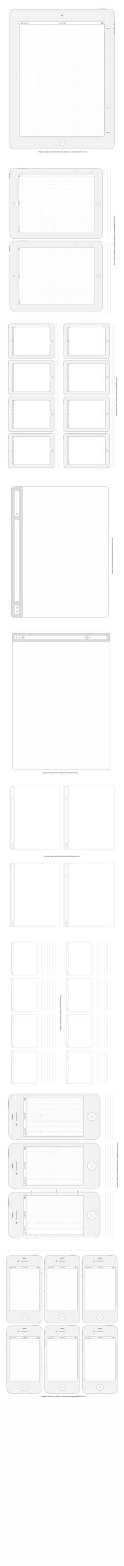 Printable UI Templates for iPhone 4s, iPad 2, etc. by matteo
