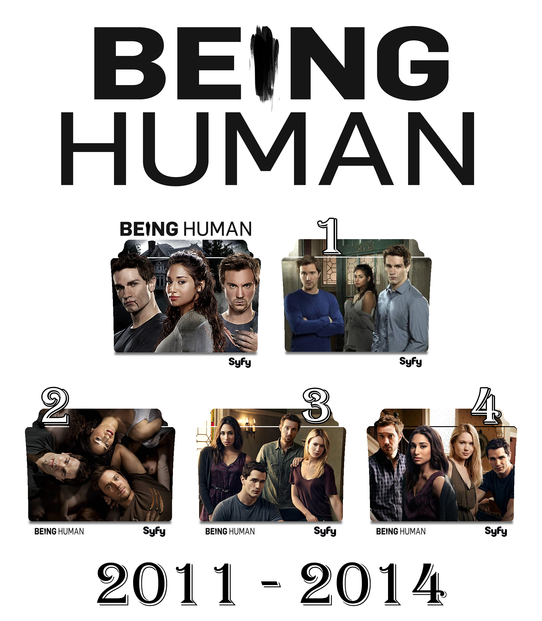 Being Human (US) series and season folder icons by Vamps1 on