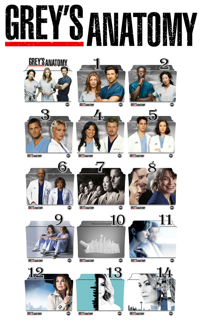 Grey\'s Anatomy series and season folder icons by Vamps1 on DeviantArt