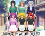 [MMD] X [YS] Casual Town Girls Model Pack #1 +DL