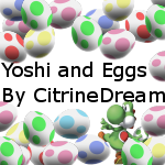 Yoshi and Eggs Brush Set by CitrineDream
