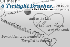 Twilight Quote Brushes by killtheliights