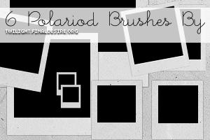 6 polaroid Gimp brushes by killtheliights