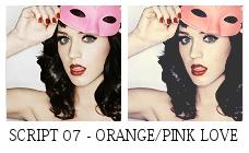 Orange Pink Love Script by killtheliights
