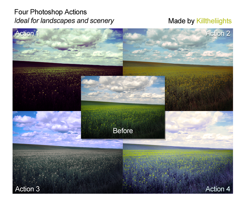 Landscape and Scenery Actions
