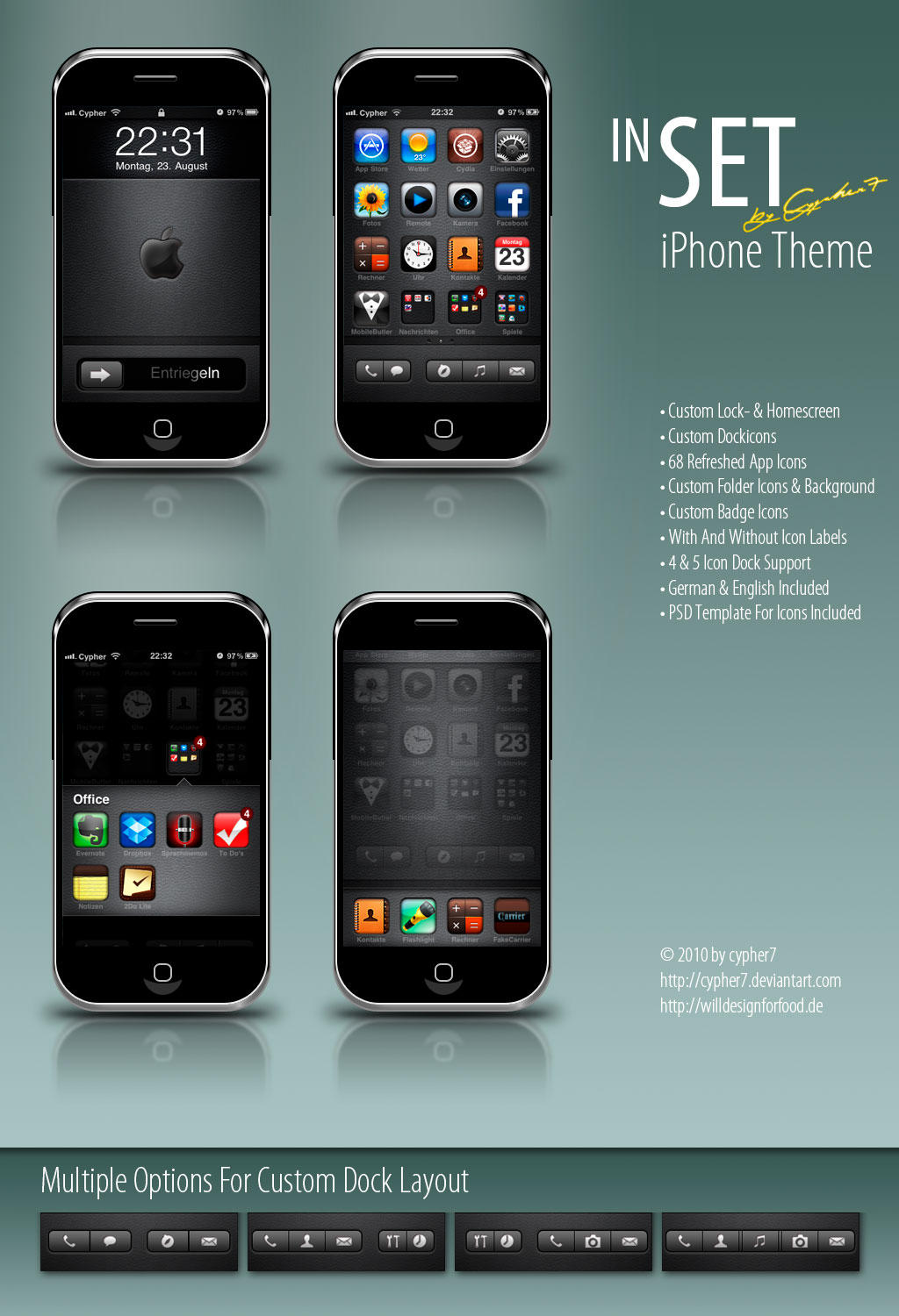 inSET - iPhone Theme RC1 by cypher7