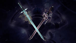 Kirito weapons - Dark Repulser and Elucidator DL