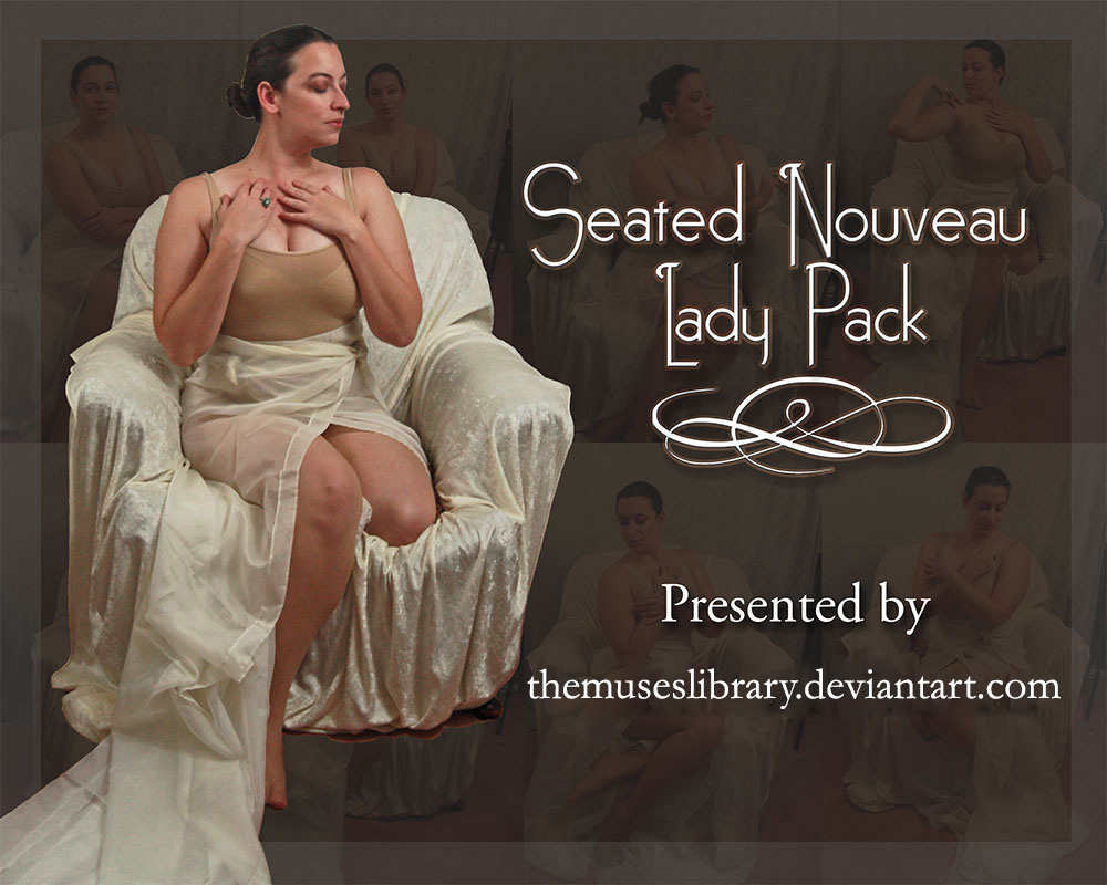 Seated Nouveau Lady PACK 1