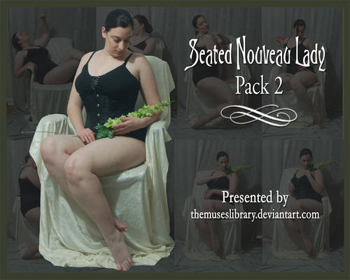 Seated Nouveau Lady PACK 2