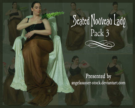 Seated Nouveau Lady PACK 3