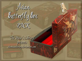 Asian Butterfly Box PACK by themuseslibrary