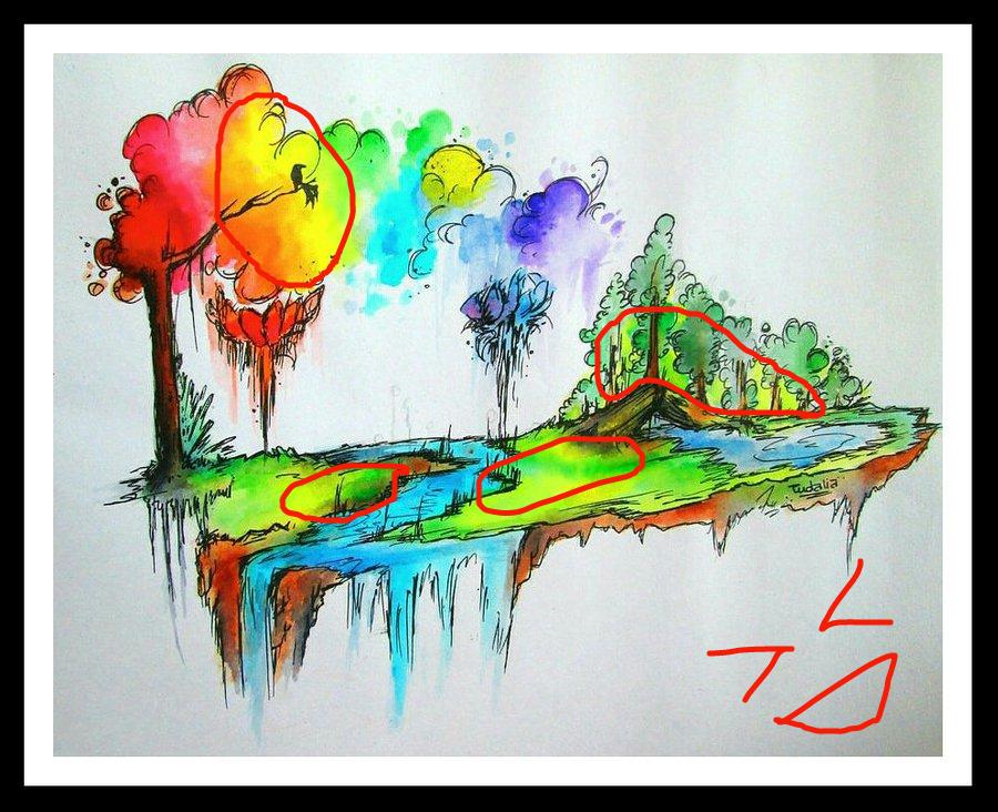 Untitled Drawing by Tudalia